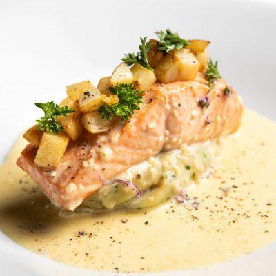 Artichoke Salmon Dish