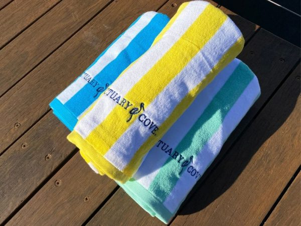 Sanctuary Cove Beach Towel rolled